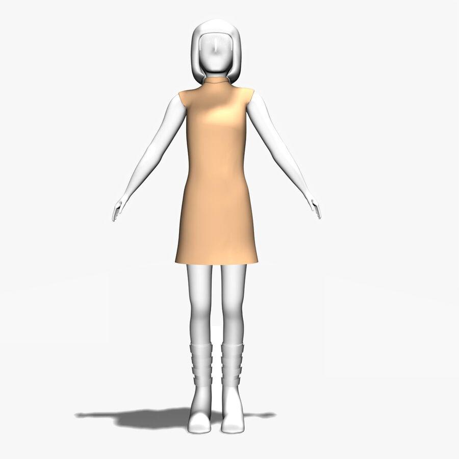Обычная женщина royalty-free 3d model - Preview no. 1