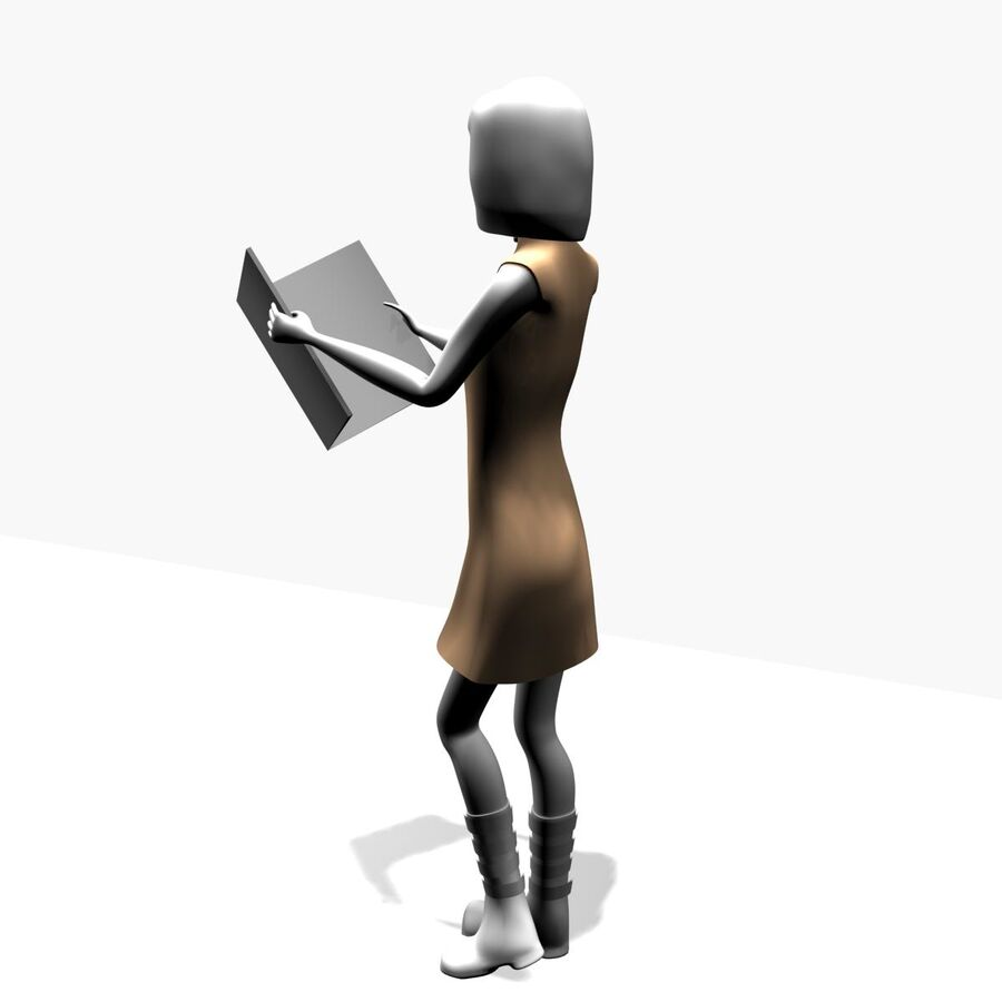 Обычная женщина royalty-free 3d model - Preview no. 8
