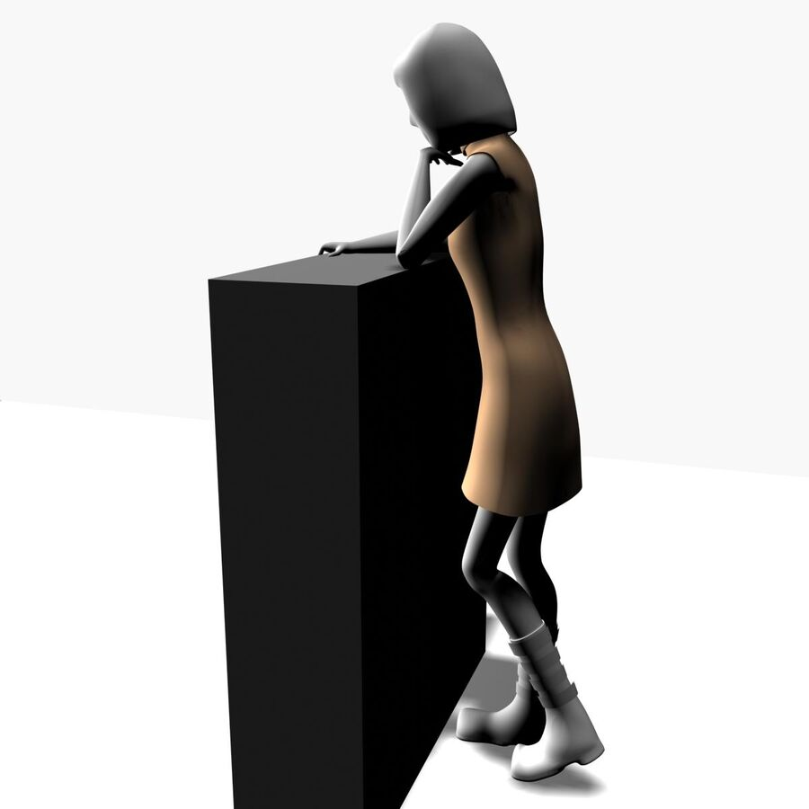 Обычная женщина royalty-free 3d model - Preview no. 4