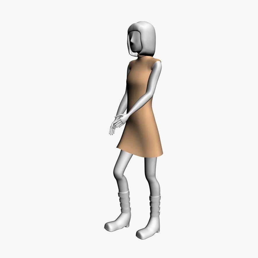 Обычная женщина royalty-free 3d model - Preview no. 7