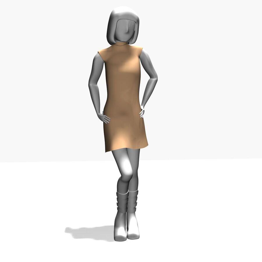 Обычная женщина royalty-free 3d model - Preview no. 9