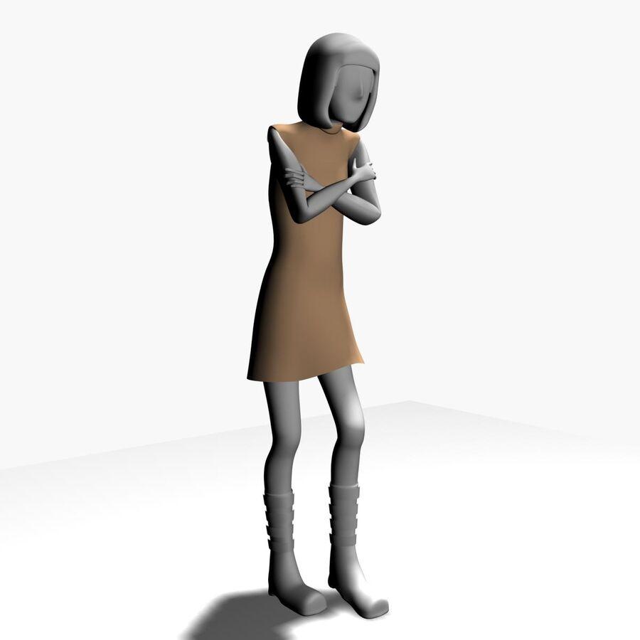 Обычная женщина royalty-free 3d model - Preview no. 6