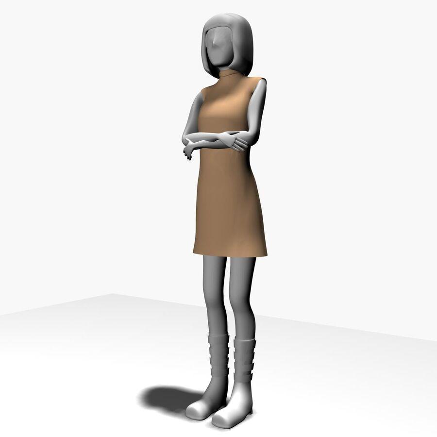 Обычная женщина royalty-free 3d model - Preview no. 3