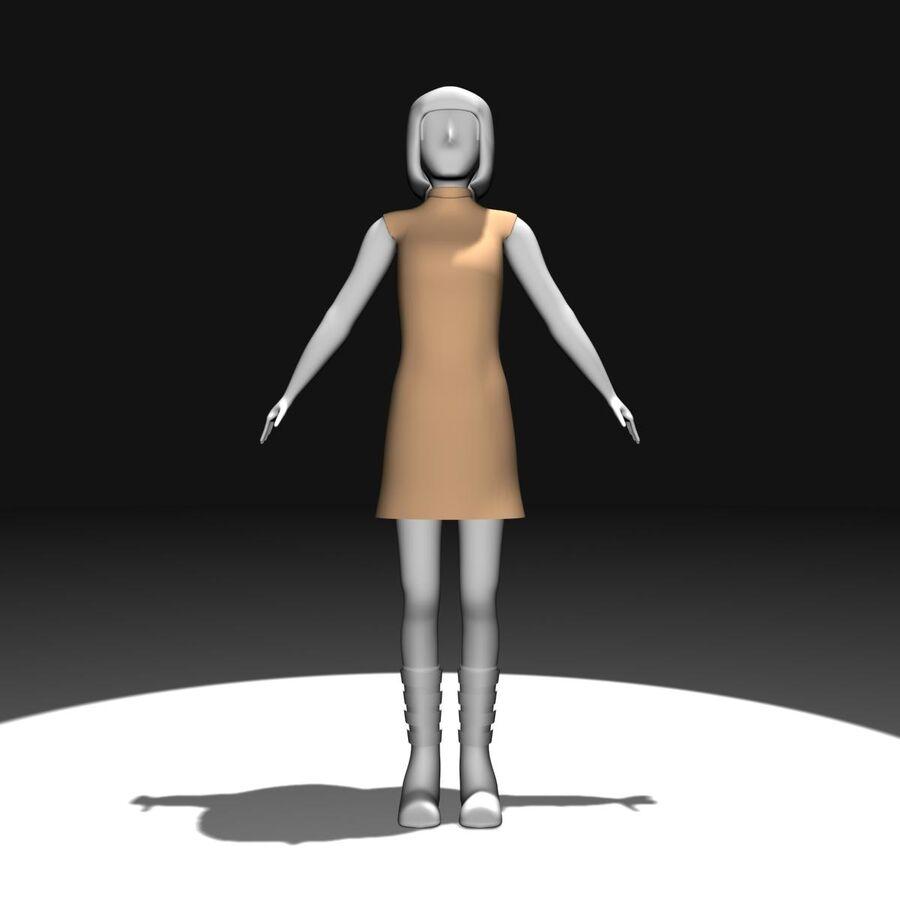 Обычная женщина royalty-free 3d model - Preview no. 2