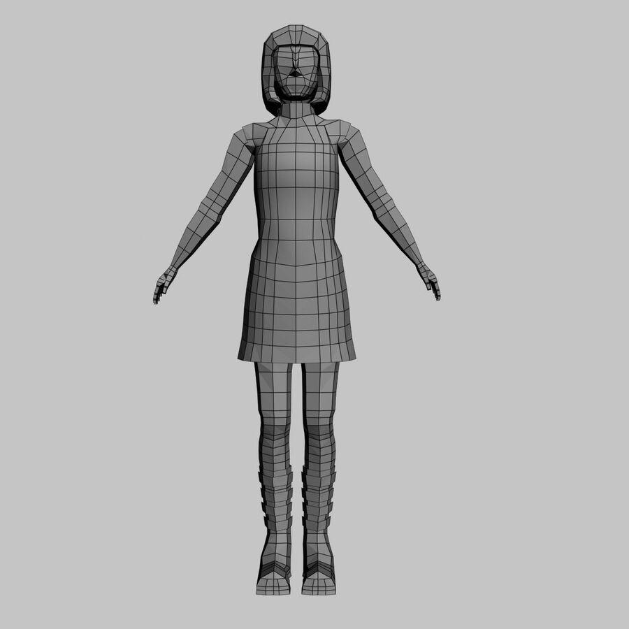Обычная женщина royalty-free 3d model - Preview no. 11