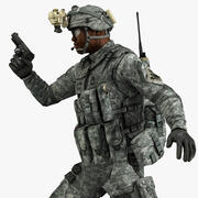 Askeri Erkek ABD Askeri 3d model