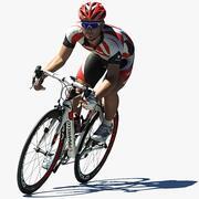 Cycler On Bike 3d model