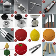 Kitchen Tools Collection v3 3d model