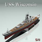 USS Wisconsin 3d model