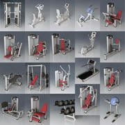フィットネス機器コレクション 3d model