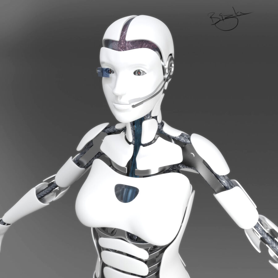 Cyborg Female royalty-free 3d model - Preview no. 1