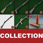 Collezione di fucili 3d model