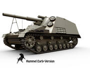 Sd Kfz 165 Hummel tidigt 3d model