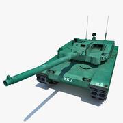 Carro da battaglia principale coreano XK2 Black Panther 2 3d model