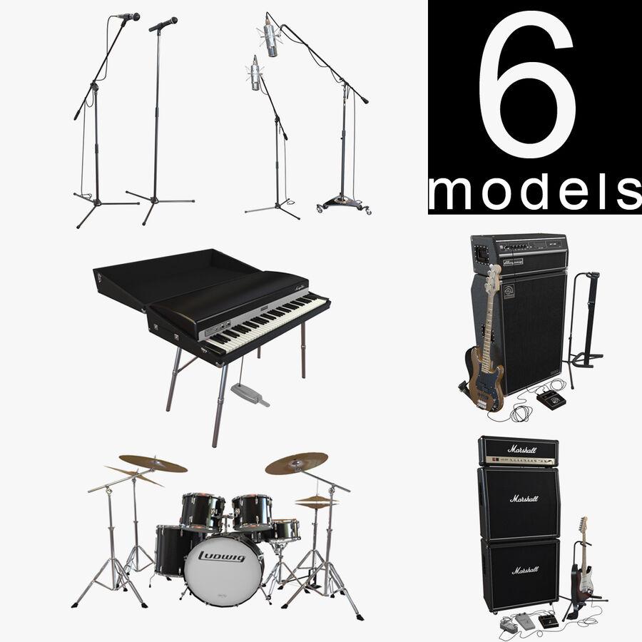 Instrumentsamling royalty-free 3d model - Preview no. 1