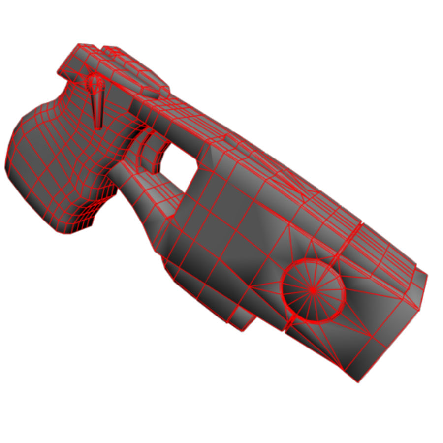 Taser Gun royalty-free 3d model - Preview no. 4