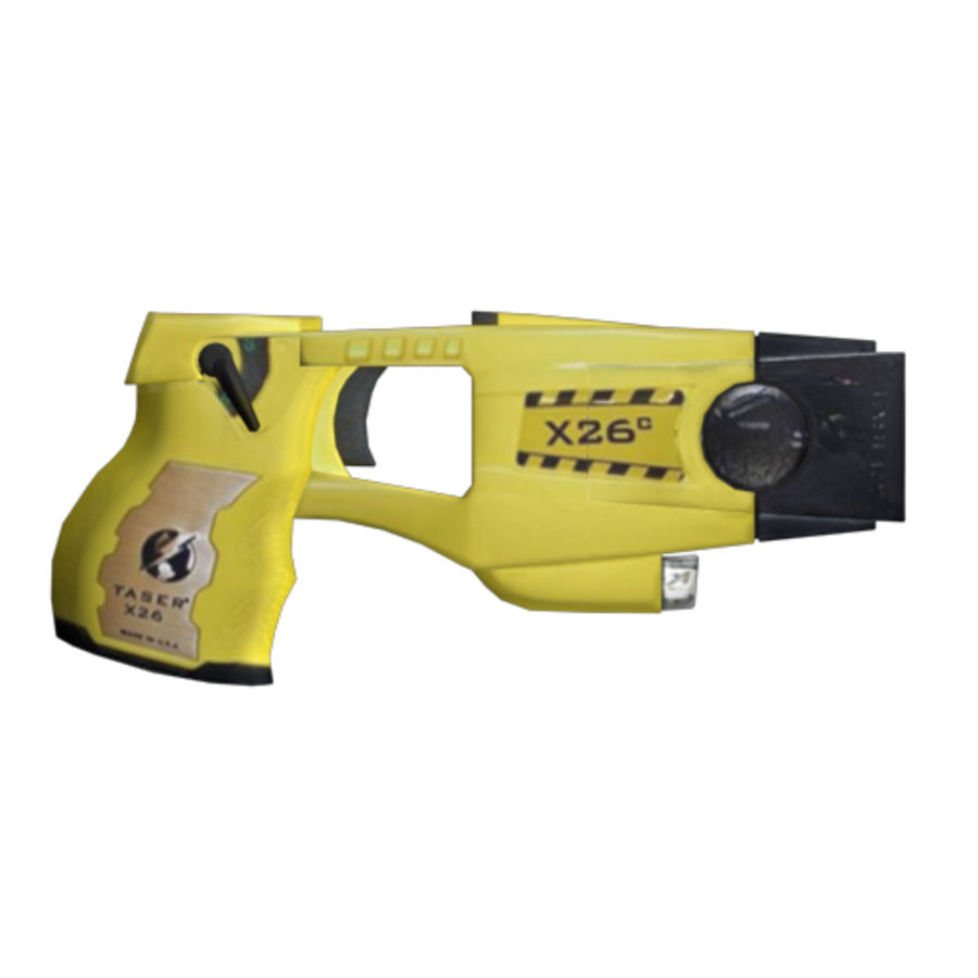 Taser Gun royalty-free 3d model - Preview no. 3