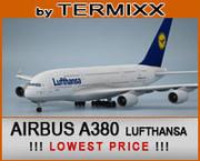 Airbus A380 Lufthansa 3d model