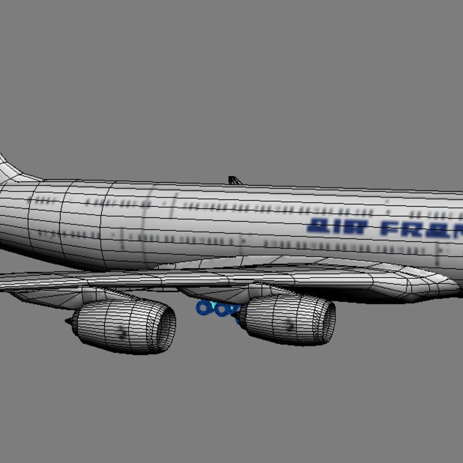 空中客车A380 AIR FRANCE royalty-free 3d model - Preview no. 5
