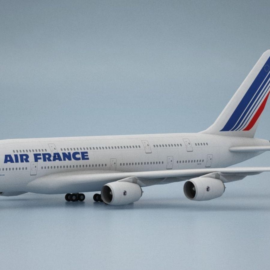 空中客车A380 AIR FRANCE royalty-free 3d model - Preview no. 2