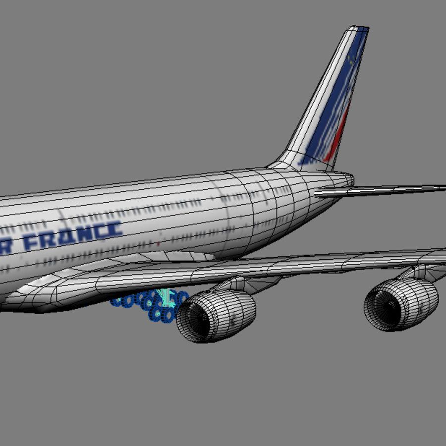 空中客车A380 AIR FRANCE royalty-free 3d model - Preview no. 4