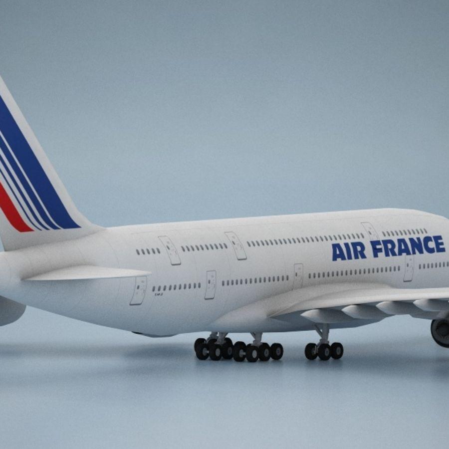 空中客车A380 AIR FRANCE royalty-free 3d model - Preview no. 3