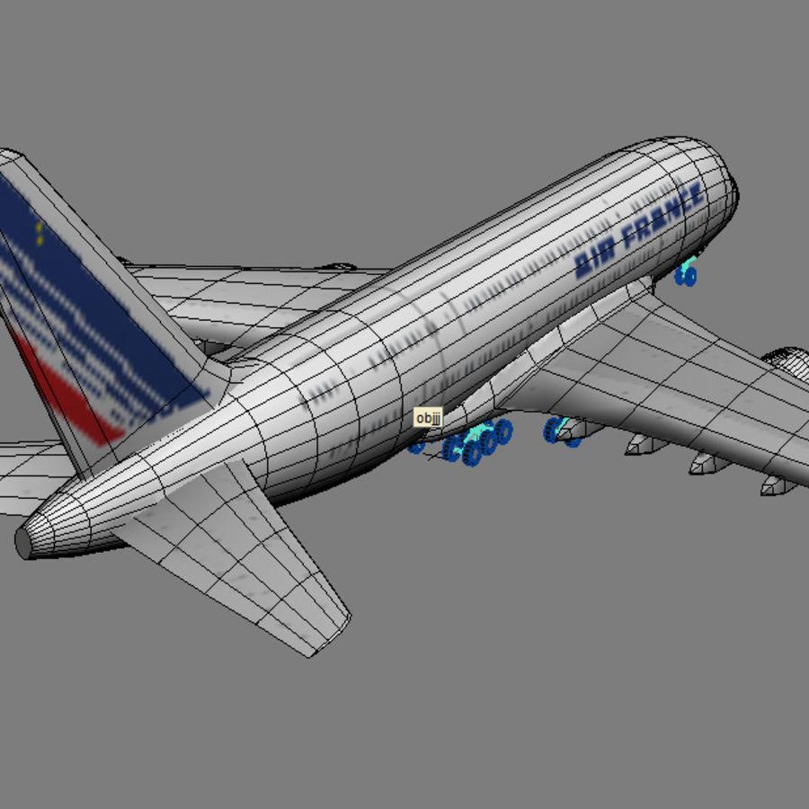 空中客车A380 AIR FRANCE royalty-free 3d model - Preview no. 6