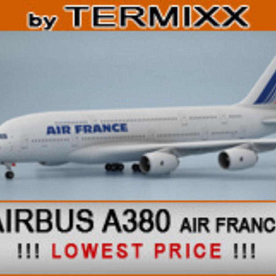 空中客车A380 AIR FRANCE royalty-free 3d model - Preview no. 1
