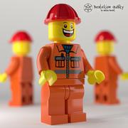 Lego Construction Worker Figure 3d model