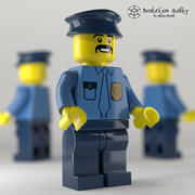 Lego Police Figure 3d model