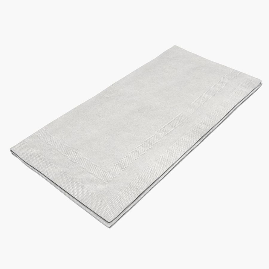 folded napkin royalty-free 3d model - Preview no. 5