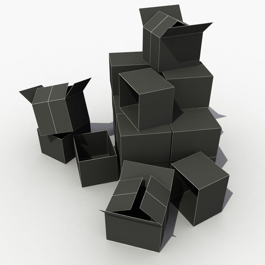 Cardboard Boxes royalty-free 3d model - Preview no. 6