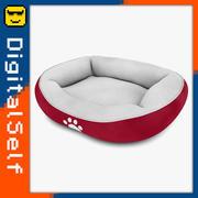 Cama para mascotas roja modelo 3d