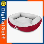 Pet Bed Red 3d model