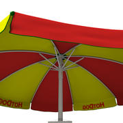 Hotdog-kar 3d model
