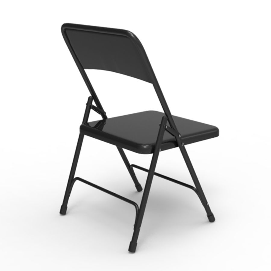 Metal Folding Chair Royalty Free 3d Model   Preview No. 4
