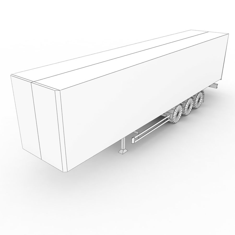 Trailer Cargo Box Tent royalty-free 3d model - Preview no. 6
