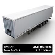 Trailer Cargo Box Tent 3d model