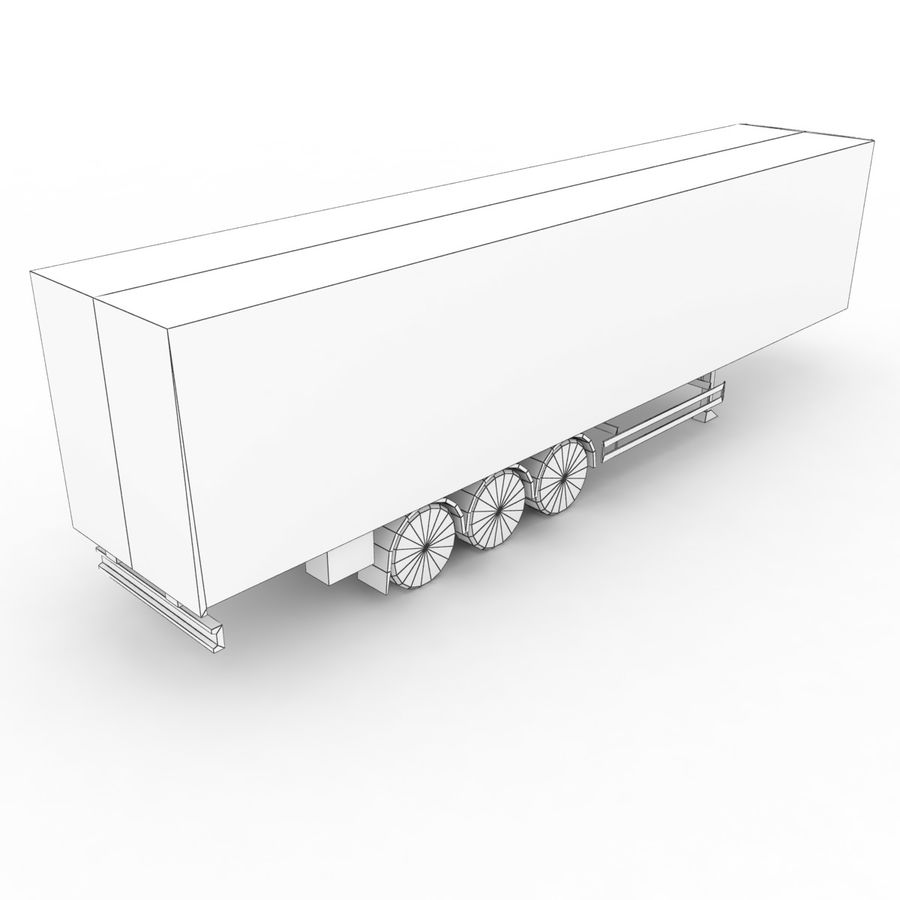 Trailer Cargo Box Tent royalty-free 3d model - Preview no. 7