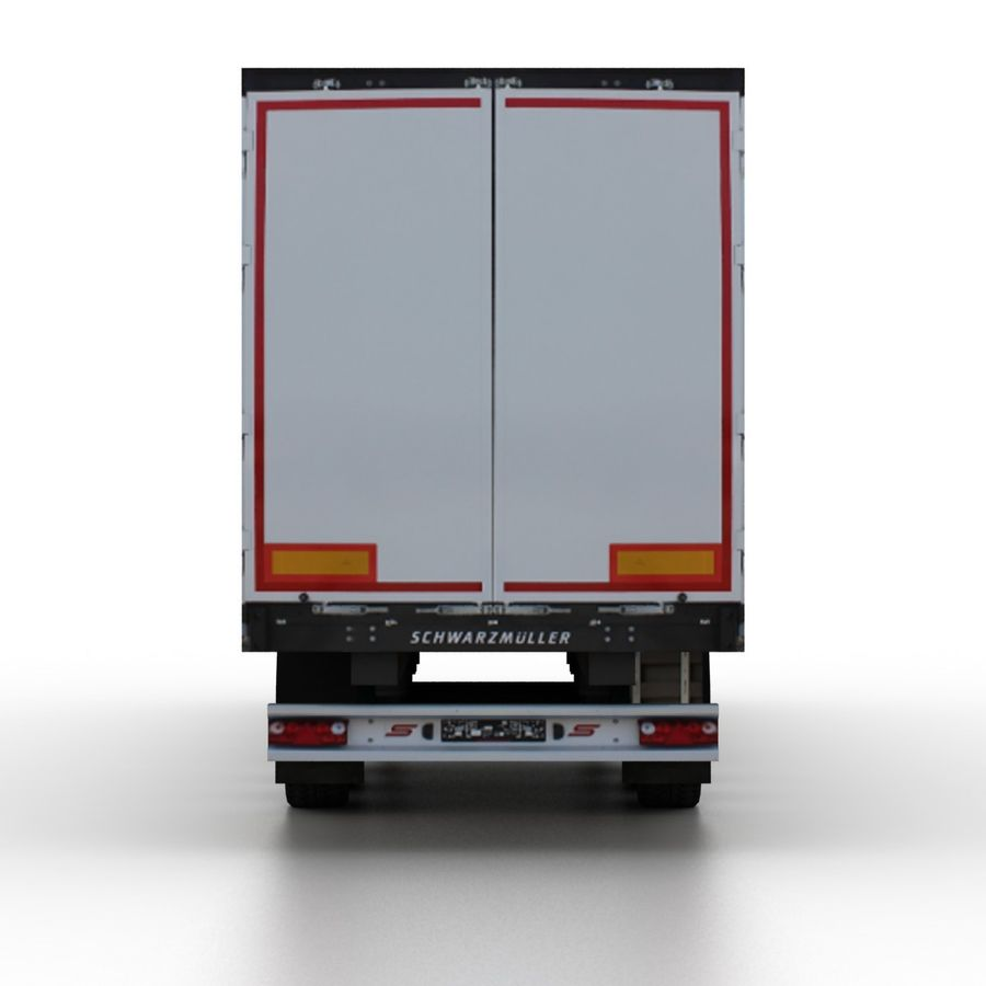 Trailer Cargo Box Tent royalty-free 3d model - Preview no. 5