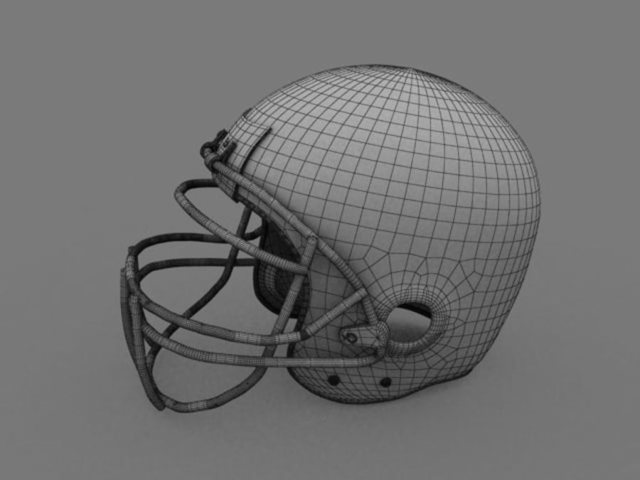 Voetbal helm royalty-free 3d model - Preview no. 3