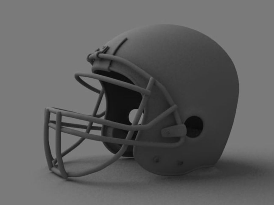 Kask futbolowy royalty-free 3d model - Preview no. 5