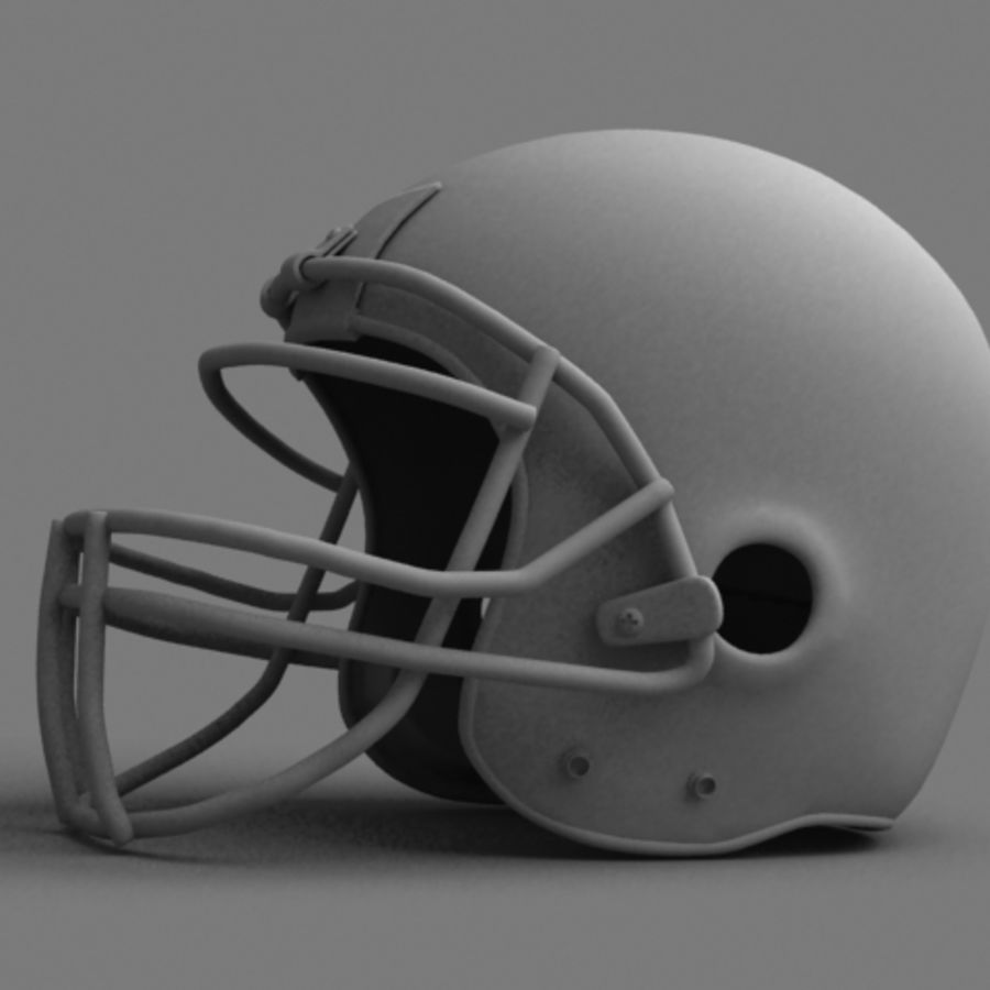 Football helmet royalty-free 3d model - Preview no. 2