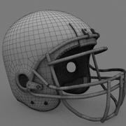Kask futbolowy 3d model