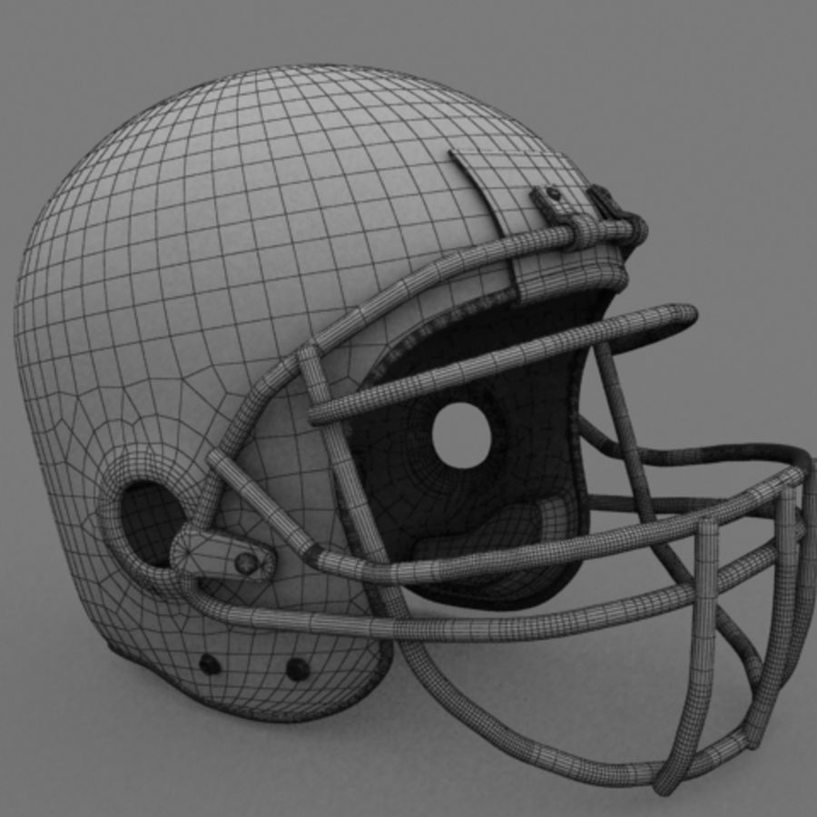Football helmet royalty-free 3d model - Preview no. 1