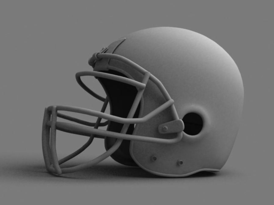 Kask futbolowy royalty-free 3d model - Preview no. 1