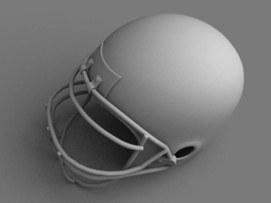 Voetbal helm royalty-free 3d model - Preview no. 7