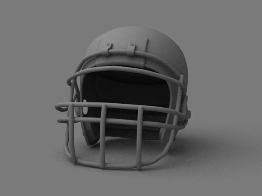 Kask futbolowy royalty-free 3d model - Preview no. 4