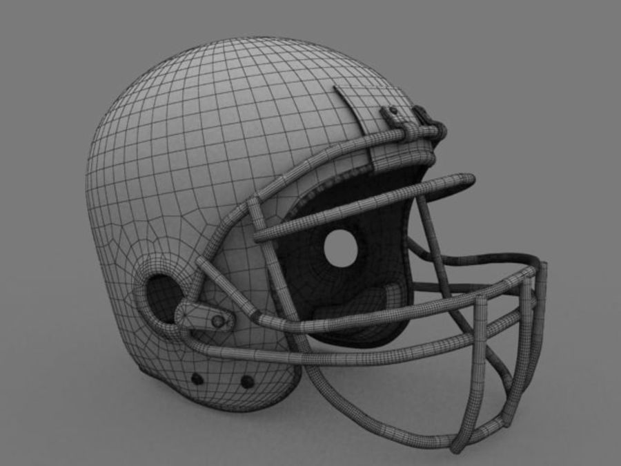 Casque de football américain royalty-free 3d model - Preview no. 1