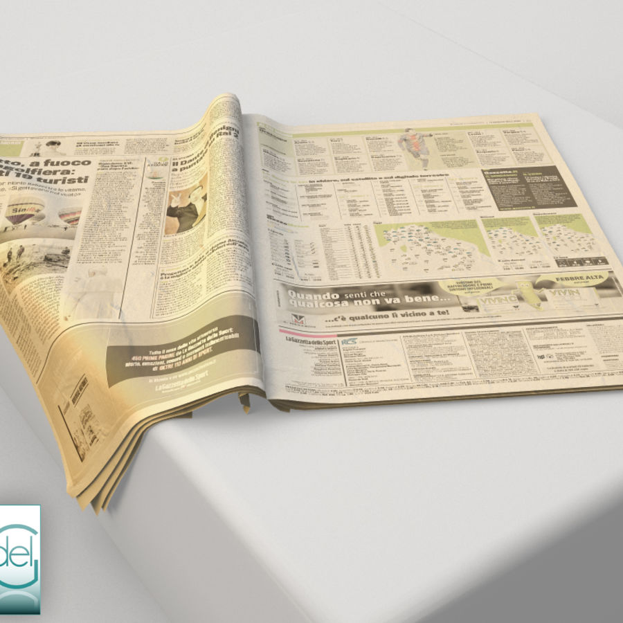 Newspaper Gazzetta dello sport 3 3D Model $24 -  unknown